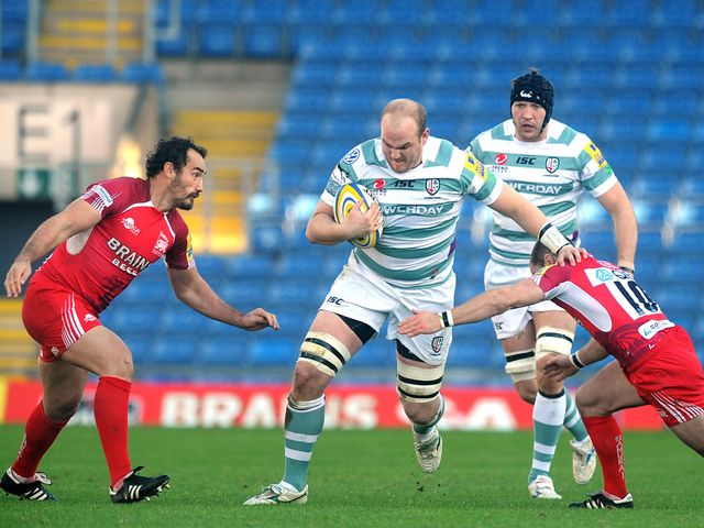 Matt Garvey makes a charge.
