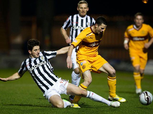 Kenny McLean challenges Jamie Murphy