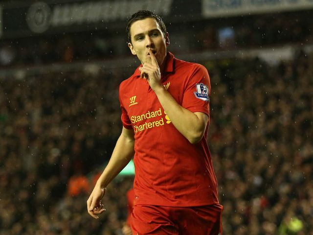Downing: Finally scored a league goal for Liverpool