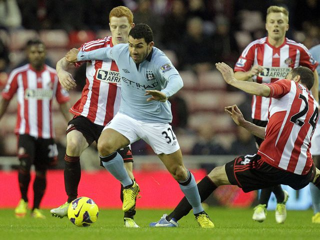 Carlos Tevez in action for Manchester City