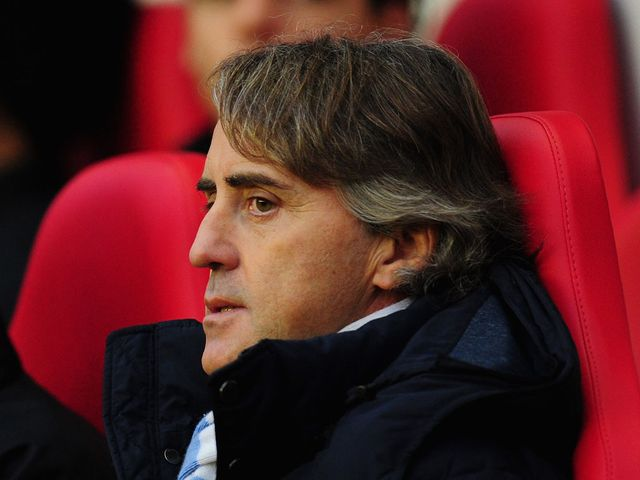 Roberto Mancini: Not happy with his side, Sunderland or the ref