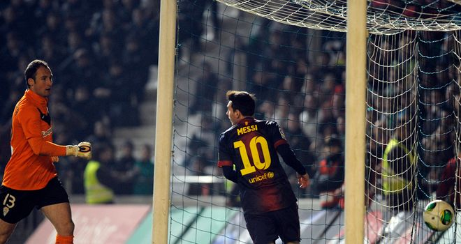 Lionel Messi: Bagged a brace in Copa del Rey win over Cordoba