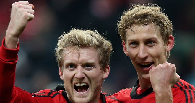 Stefan Kiessling celebrates his winning strike