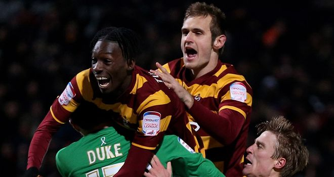 Matt Duke: Praised Bradford for their penalty shoot-out victory over Arsenal