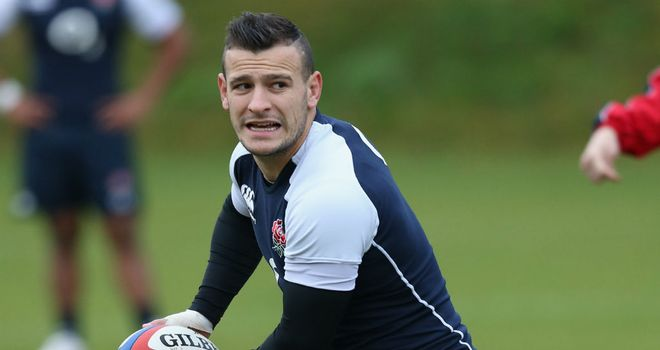 Danny Care during England training
