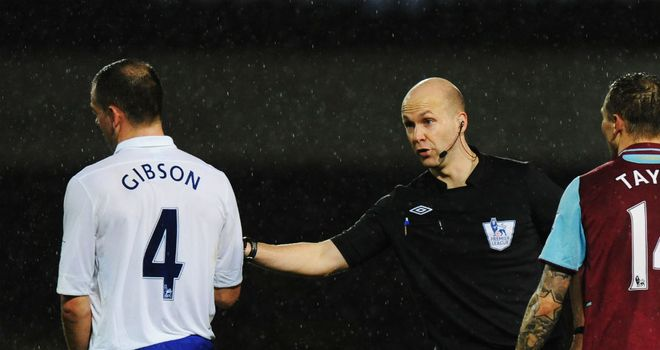 Darron Gibson: Saw red during Everton's victory at Upton Park