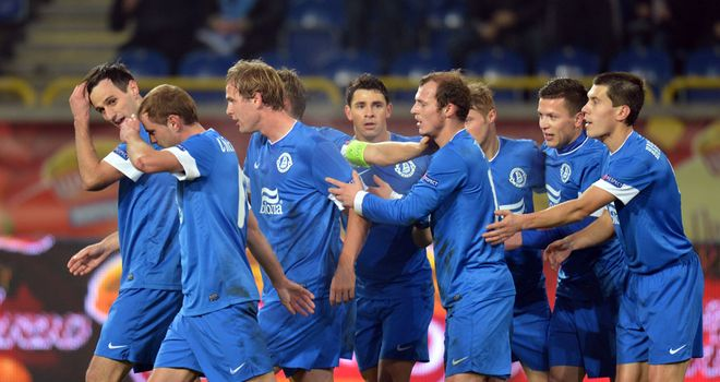 Dnipro celebrate against AIK