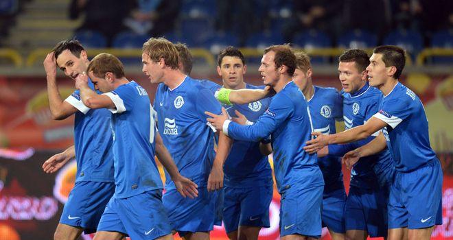 Dnipro celebrate against AIK