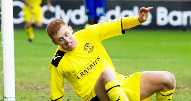 Eoin Doyle: Celebrates his goal at Rugby Park