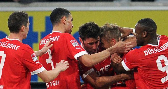 Fortuna Dusseldorf celebrate