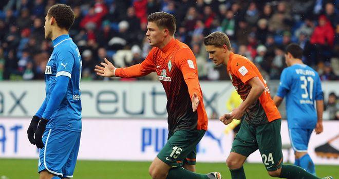 Werder Bremen celebrate.
