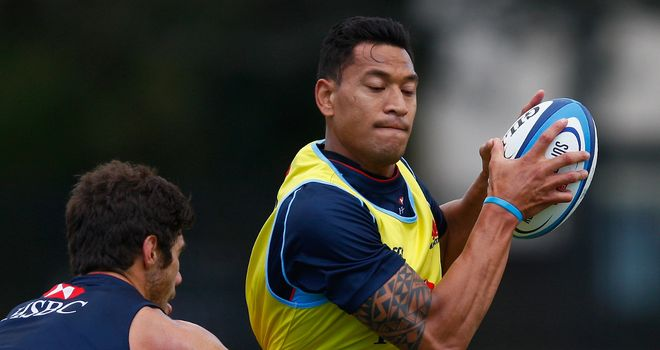Israel Folau: Left out of Wallabies training squad
