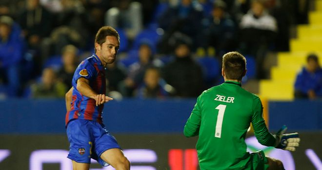 Michel has a shot for Levante