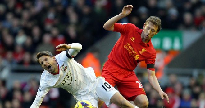Lucas: Made his return from injury for Liverpool against Southampton