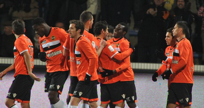 Lorient celebrate their opener