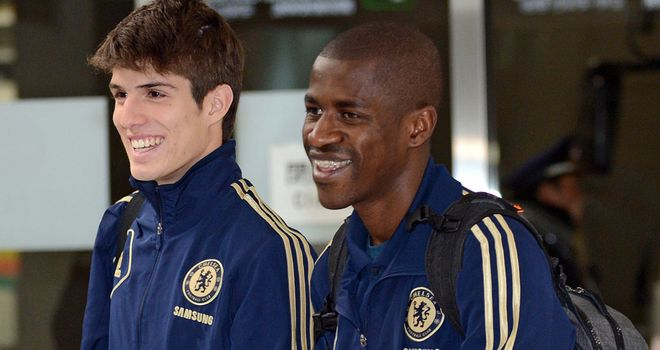 Lucas Piazon arriving in Japan last week with teamate Ramires