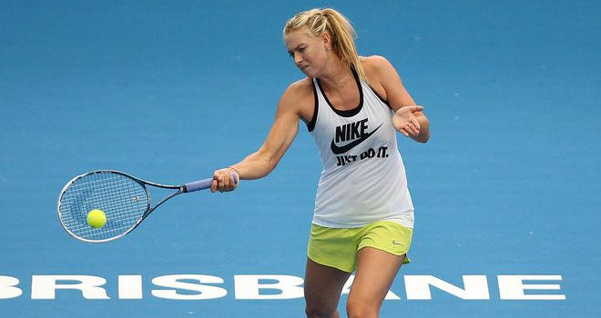 Maria Sharapova: Struggling with collarbone injury