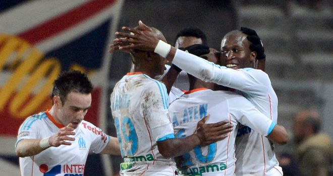Marseille celebrate against St Etienne