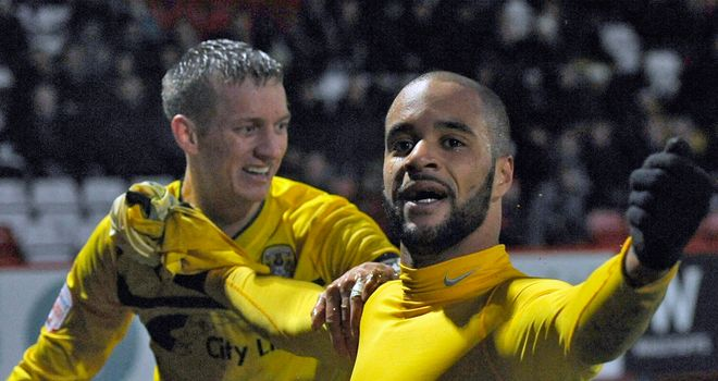 McGoldrick: Celebrates goal for Coventry