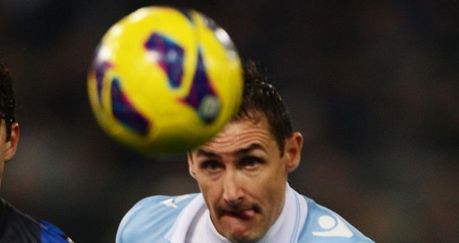 Miroslav Klose: Scored the only goal for Lazio