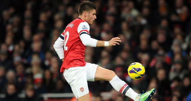 Olivier Giroud: Striker has scored seven goals for Arsenal since arriving from Montpellier