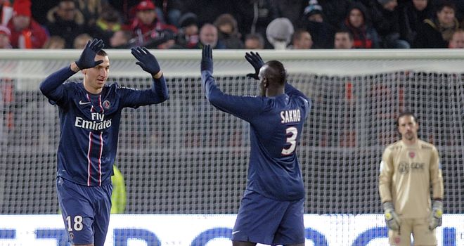 Zlatan Ibrahimovic: Netted PSG hat-trick