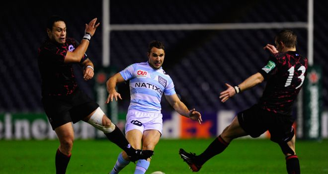 Olly Barkley: Racing Metro fly-half slides a kick through