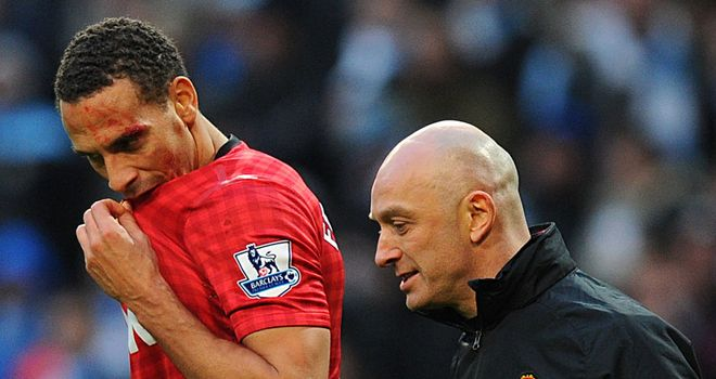Rio Ferdinand: Suffered a gash above his left eye after a coin was thrown from the crowd.