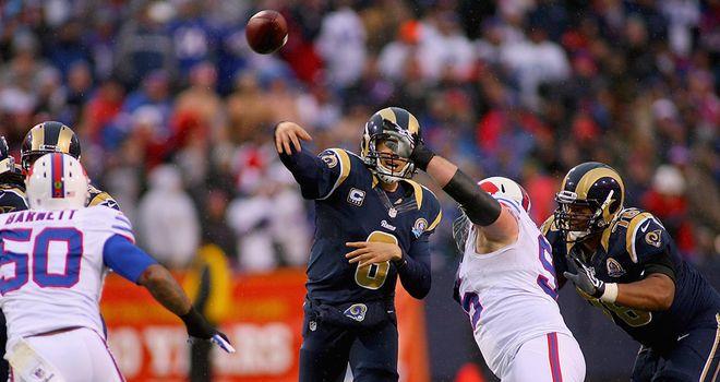 Sam Bradford: St Louis quarterback took control in the closing stages