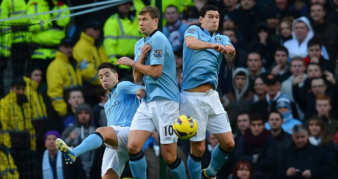 Samir Nasri: Failed to prevent Robin van Persie's free-kick from slipping past him on derby day