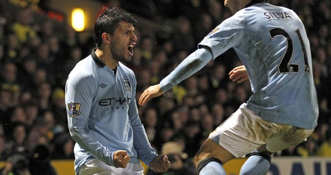 Sergio Aguero: Could be back to face Fulham after hamstring injury