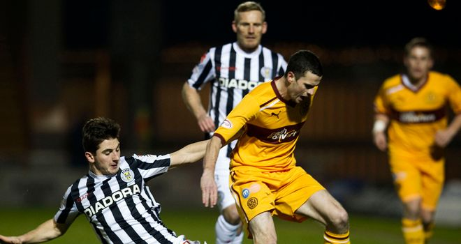 Jamie Murphy: In action for Motherwell against St Mirren