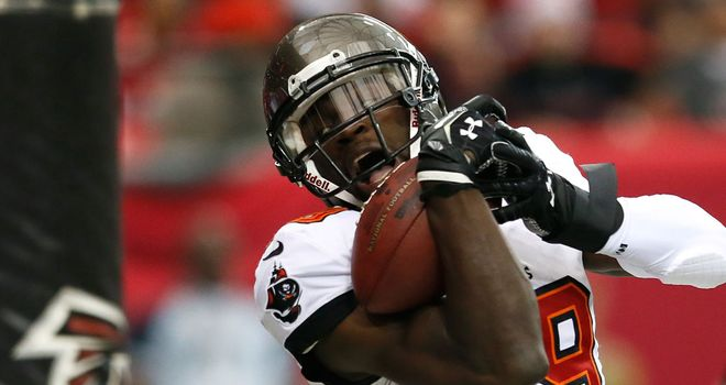 Mike Williams: hauled in a touchdown pass from Tampa Bay quarterback Josh Freeman