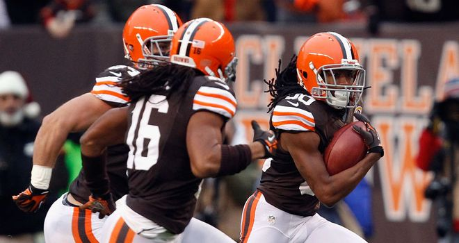 Travis Benjamin: returned a punt 93 yards to the end zone as the Browns scalped the Chiefs
