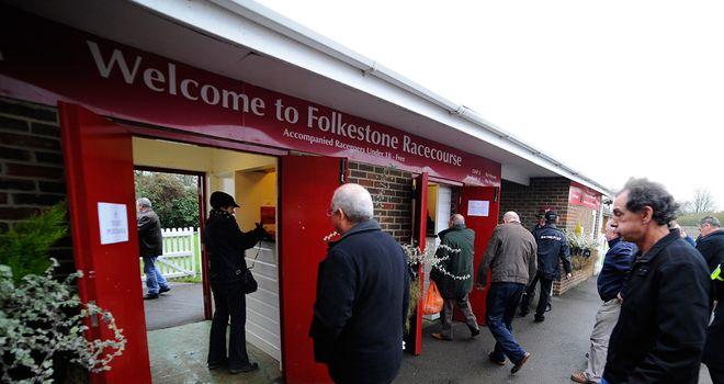 Folkestone: Welcomed racegoers for the final time