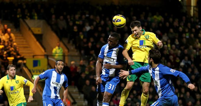 Wes Hoolahan: Headed the winner for Norwich, to extend their unbeaten run.