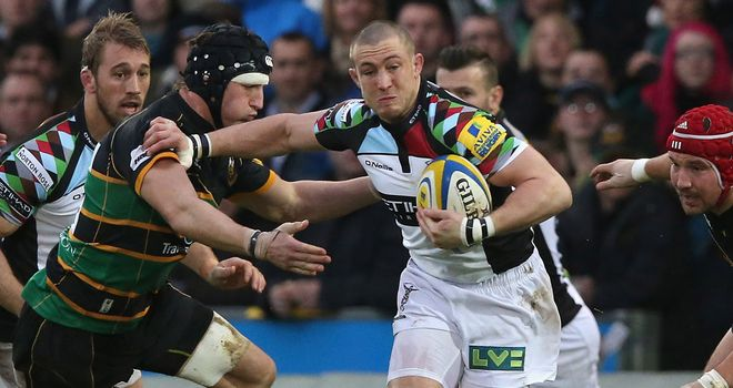 Mike Brown: Terrific under the high ball for Quins