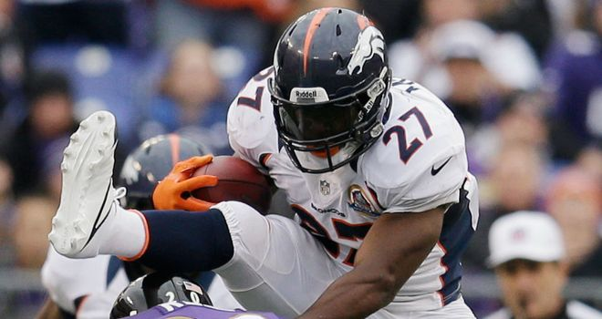 Knowshon Moreno: finished with 118 yards rushing, as well as a score, for the Denver Broncos