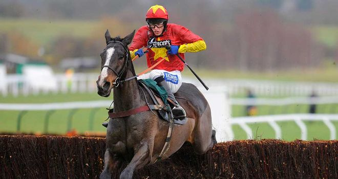 Spectacular leap from Plein Pouvoir on his way to Cheltenham victory