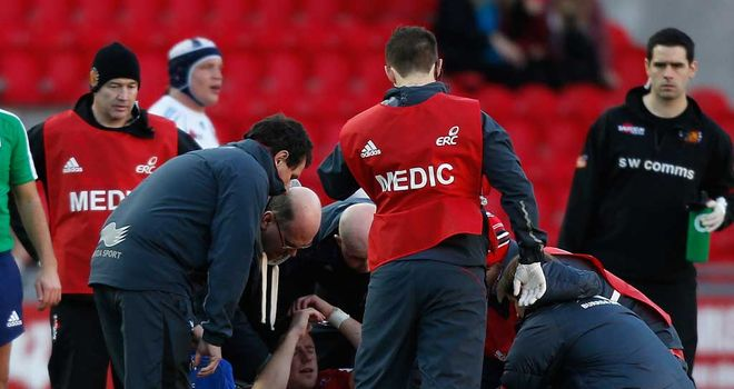 Rhys Priestland: Injured on Scarlets duty