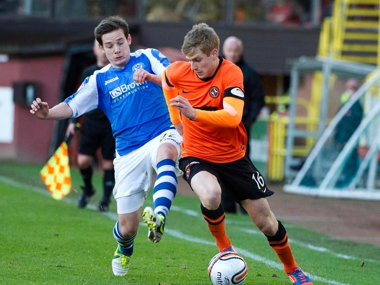 Peter Pawlett (l): On loan from Aberdeen