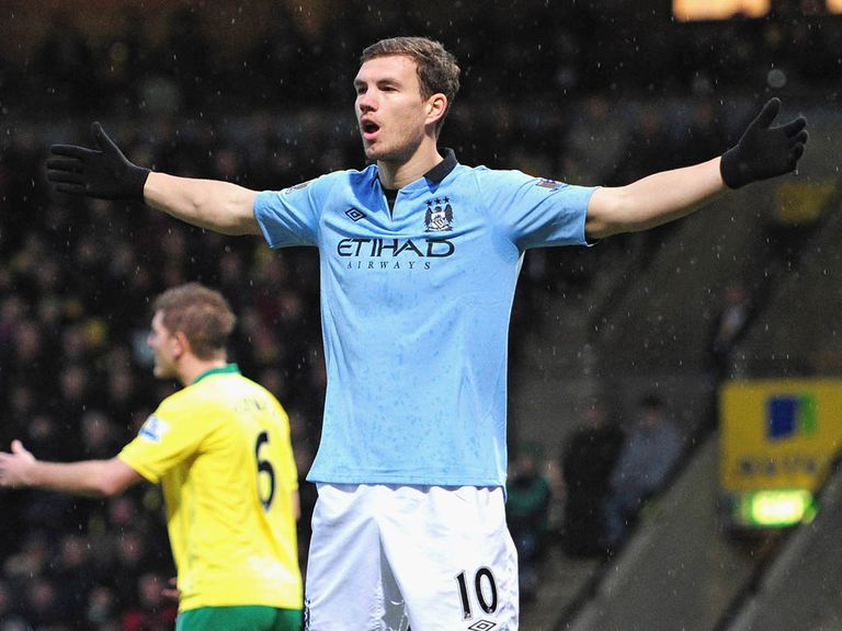 Edin Dzeko: May leave Manchester City at the end of the season
