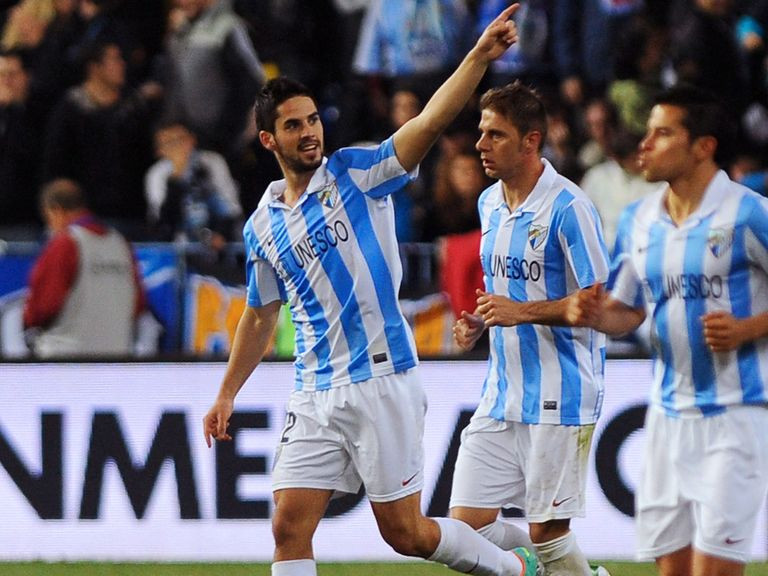 Isco (left) looks set to stay at Malaga