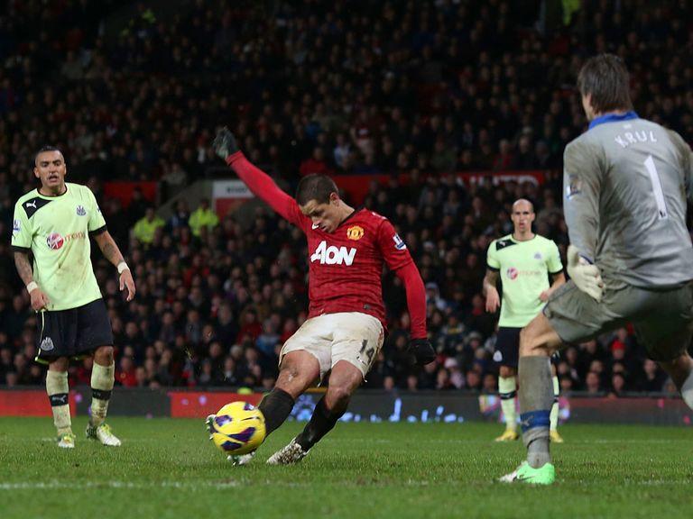 Javier Hernandez netted Man United's last-gasp winner