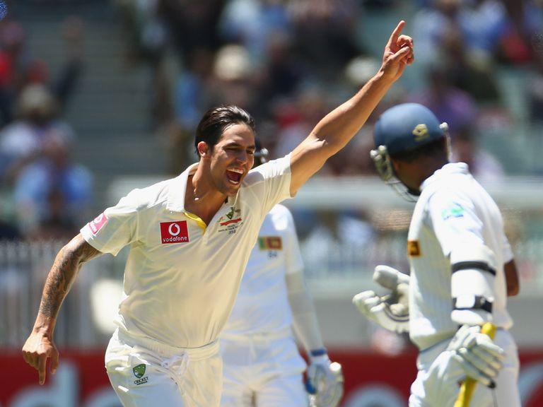 Mitchell Johnson: Four wickets for Australia
