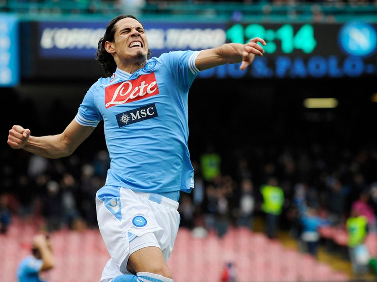 Edinson Cavani scored twice as Napoli won 5-1.