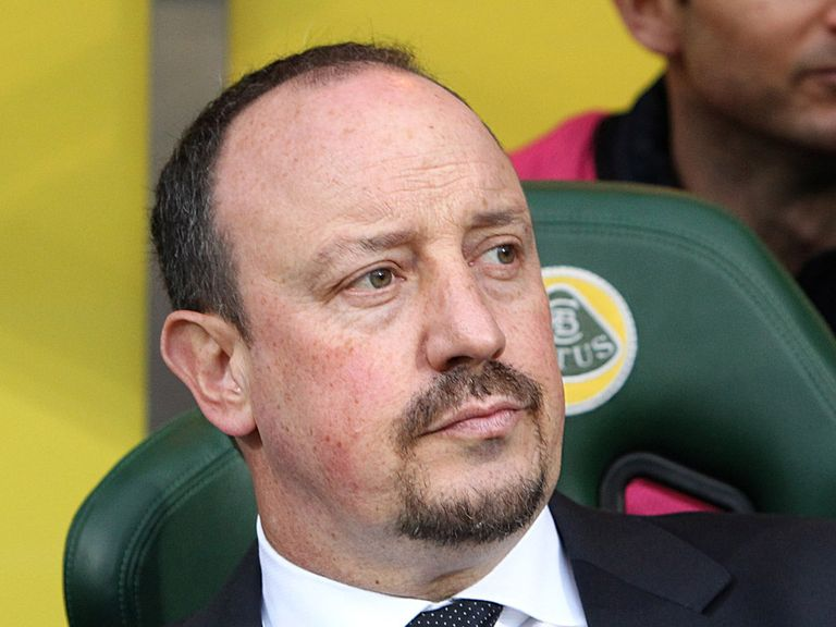 Rafael Benitez: Watched his side edge past Norwich
