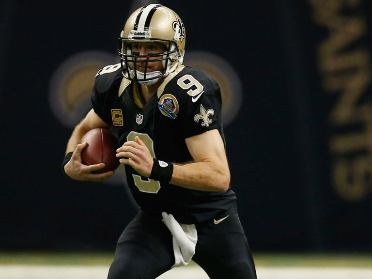 Drew Brees: Threw four touchdown passes