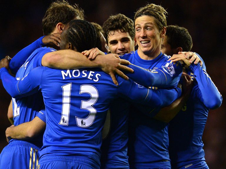 Torres and Chelsea celebrate at Sunderland
