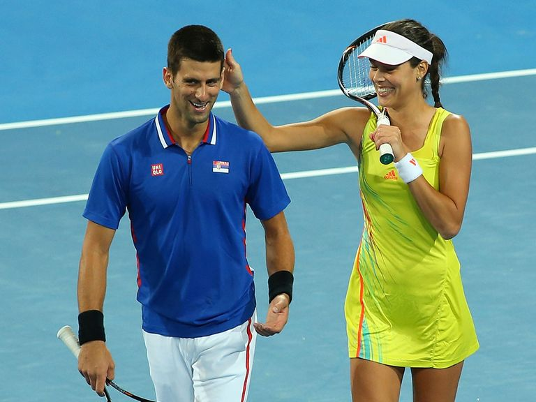 Djokovic and Ivanovic won at the Hopman Cup on Monday.